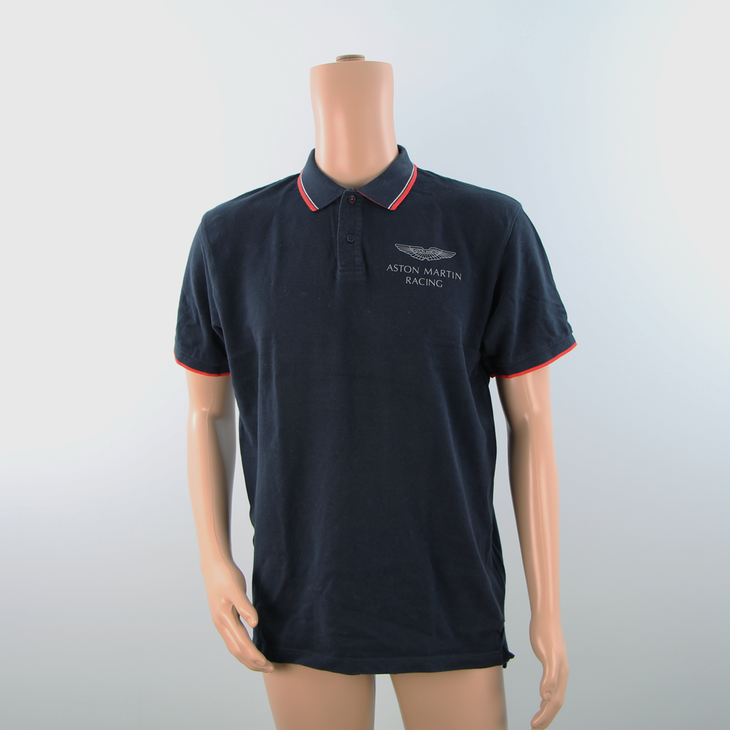 Hackett Aston Martin Racing Polo Shirt Dark Blue with Red detail - Pit-Lane Motorsport