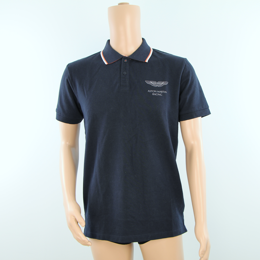New - Aston Martin Racing Hackett Polo Shirt Dark Blue 2012 - Pit-Lane Motorsport