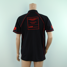 Load image into Gallery viewer, Used Aston Martin Racing MP Motorsport Team Polo Shirt Black 2014 - Pit-Lane Motorsport