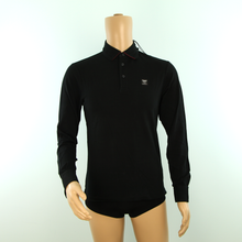 Load image into Gallery viewer, Aston Martin Racing Hackett Long Sleeve Polo Shirt Black - Pit-Lane Motorsport