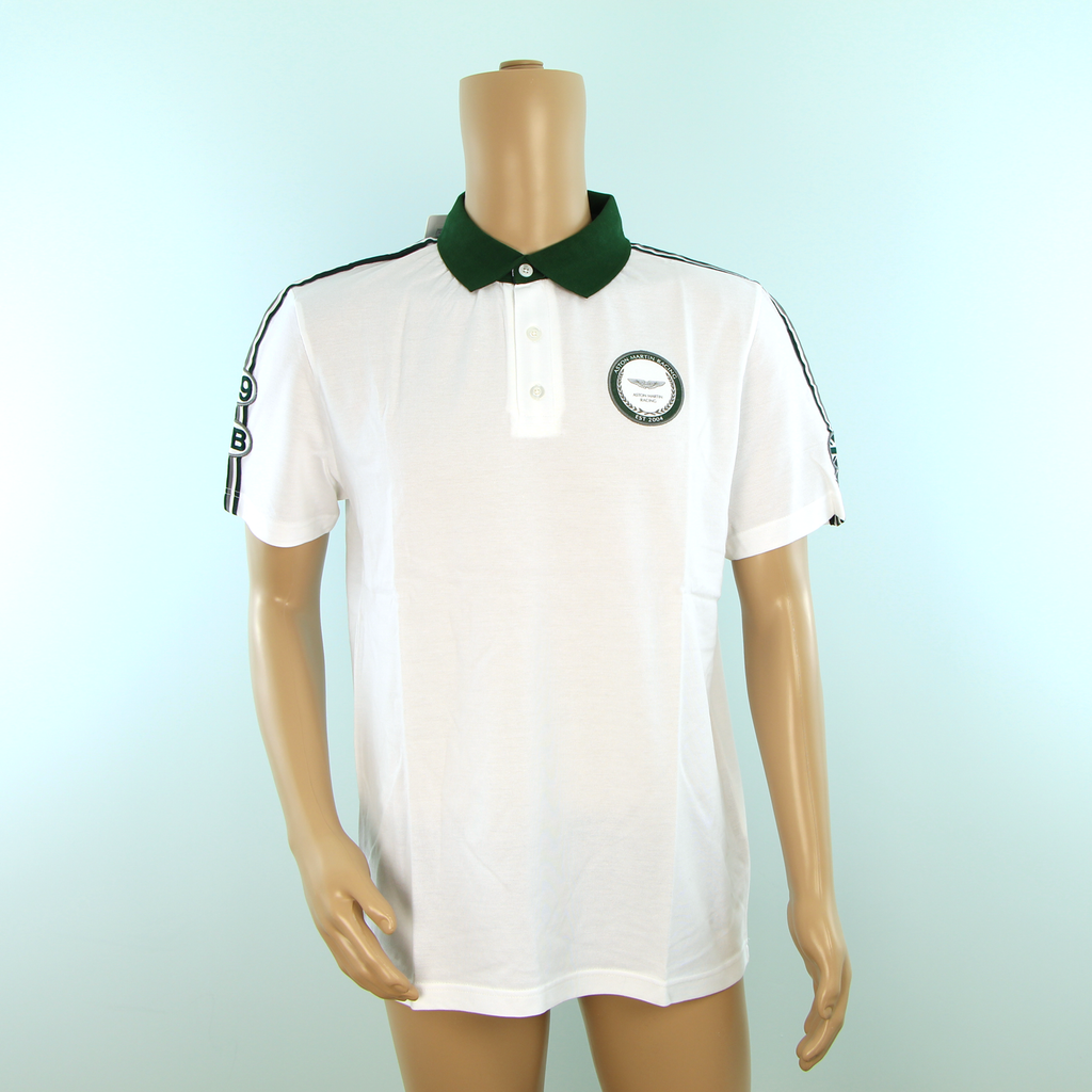 Used Aston Martin Racing Hackett Polo Shirt White - Pit-Lane Motorsport