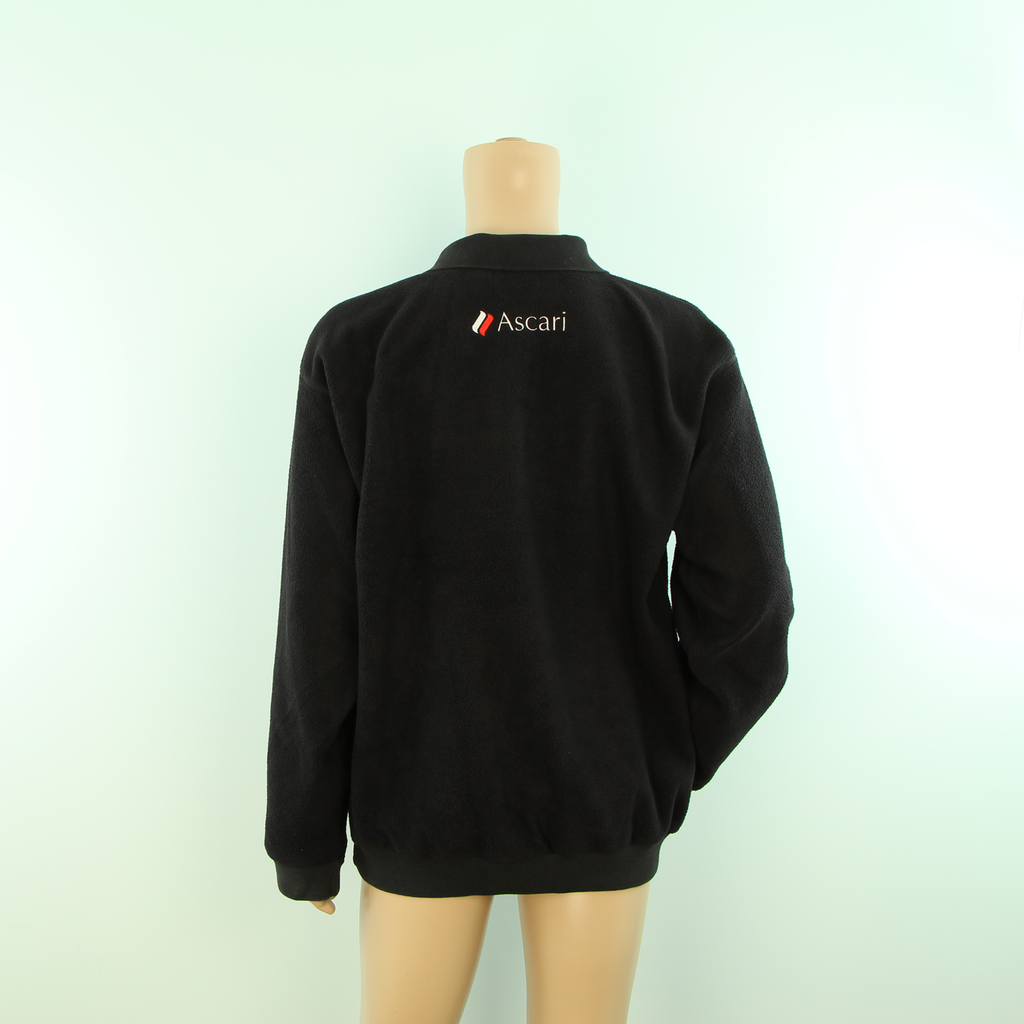 Used Race Resort Ascari Long sleeve Polo Fleece Black - Pit-Lane Motorsport