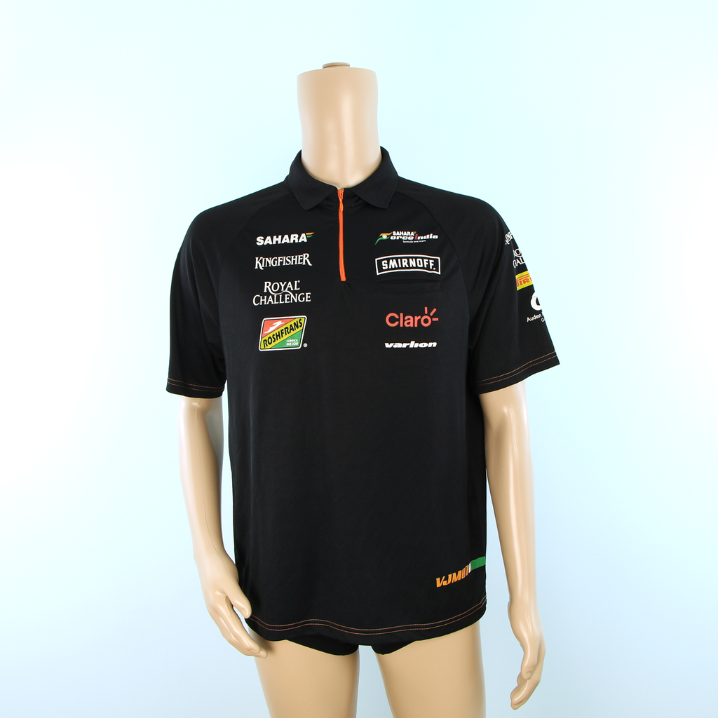 Used Sahara Force India F1 Team Polo Shirt Black - Pit-Lane Motorsport