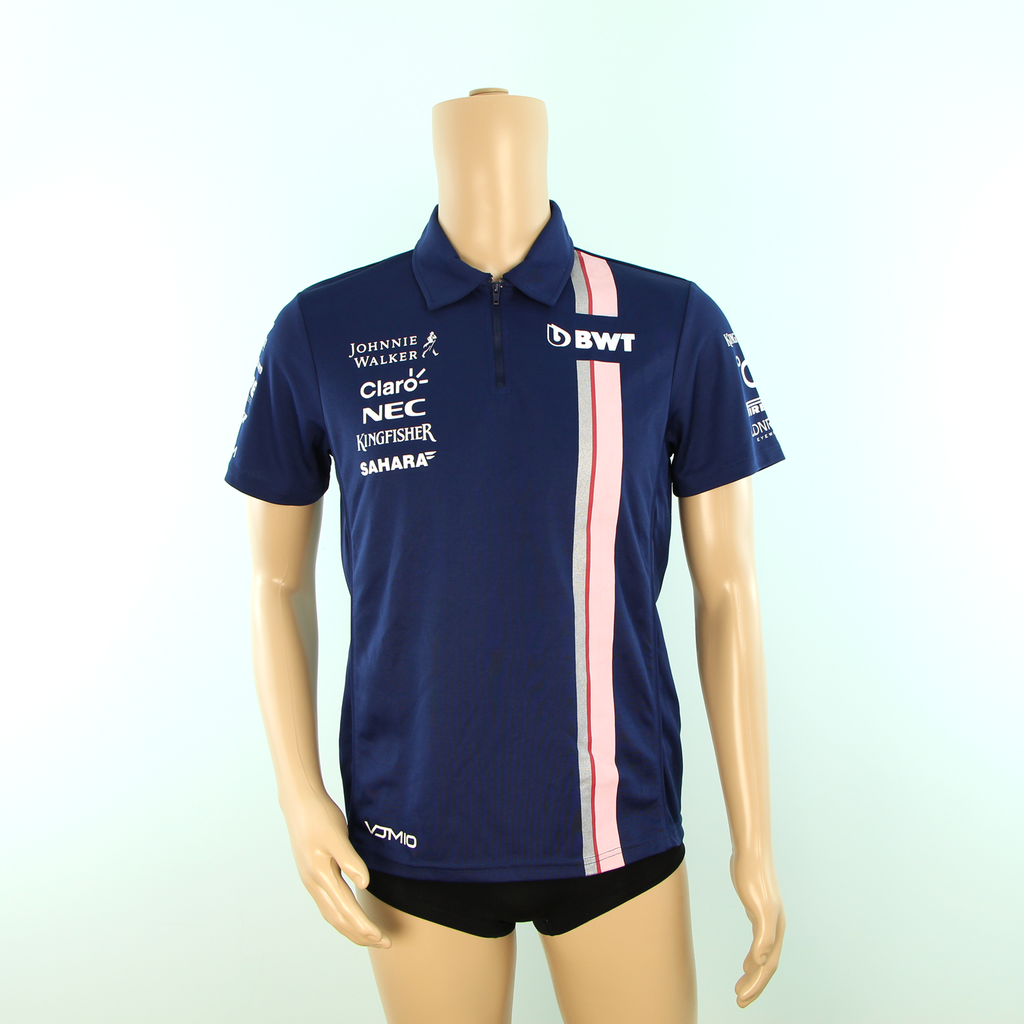 Used Racing Point F1 Force India Team Polo Shirt Dark Blue - 2018 - Pit-Lane Motorsport
