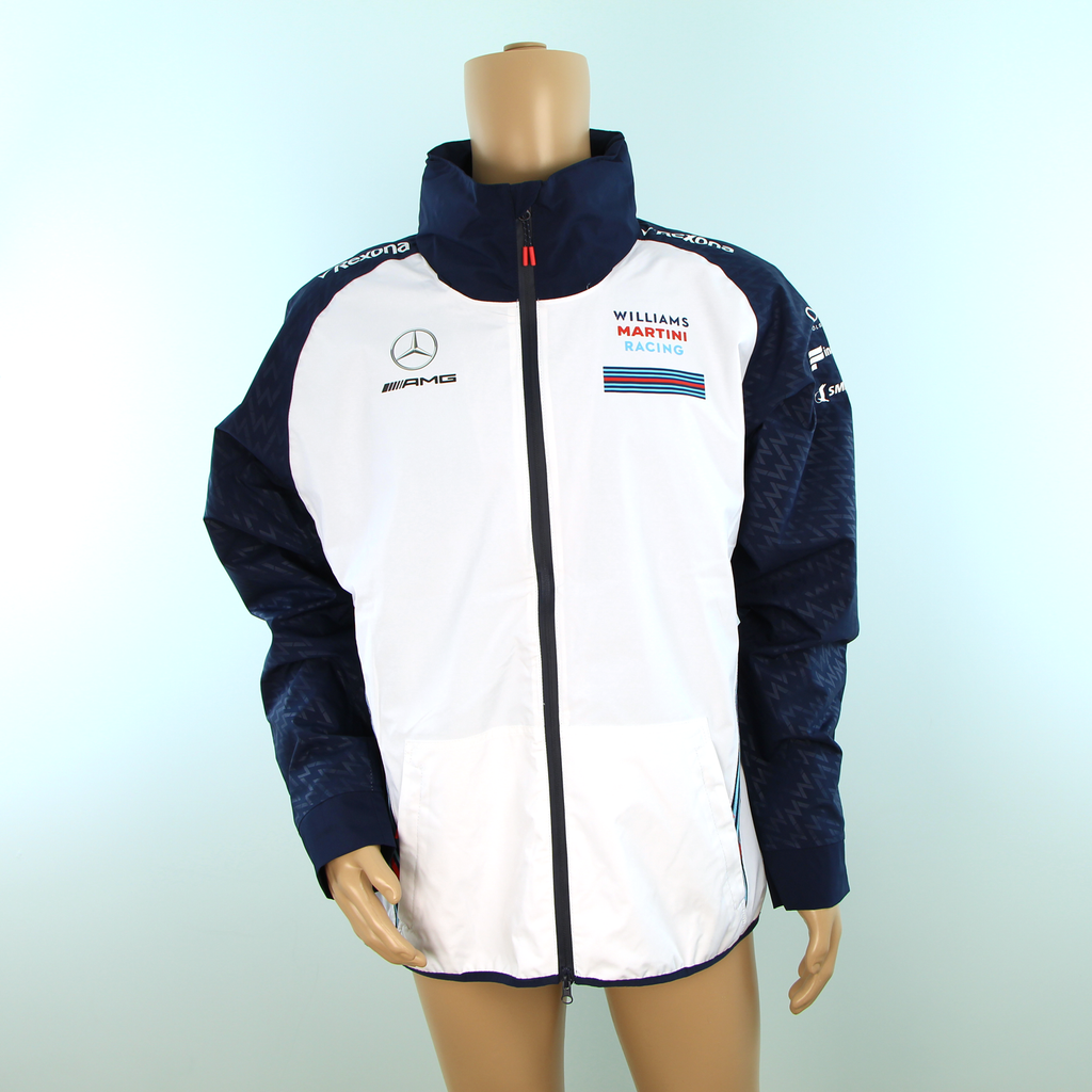Used Williams Martini Racing F1 Team Rain Coat White - Pit-Lane Motorsport