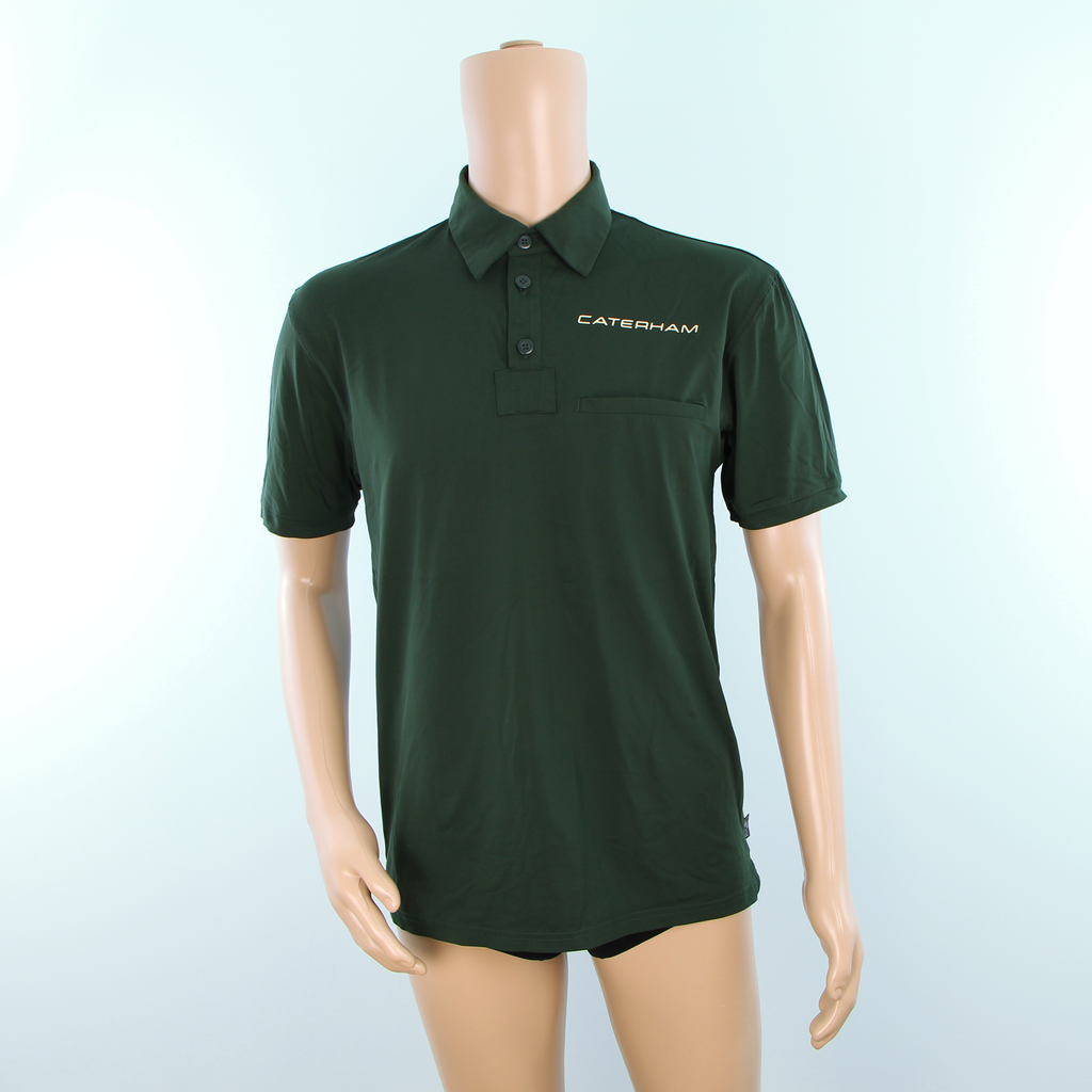 Race Engineer Used - Caterham F1 Polo shirt Dark Green - Pit-Lane Motorsport