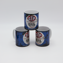 Load image into Gallery viewer, STP Oil inspired Retro/ Vintage Distressed Look Oil Can Mug - 10oz - Pit-Lane Motorsport