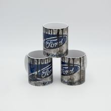 Load image into Gallery viewer, Ford inspired Retro/ Vintage Distressed Look Oil Can Mug - 10z - Pit-Lane Motorsport