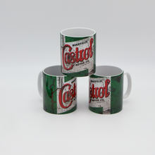 Load image into Gallery viewer, Castrol Oil inspired Retro/ Vintage Distressed Look Oil Can Mug - 10z - Pit-Lane Motorsport