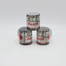 Load image into Gallery viewer, Audi inspired Retro/ Vintage Distressed Look Oil Can Mug - 10z - Pit-Lane Motorsport