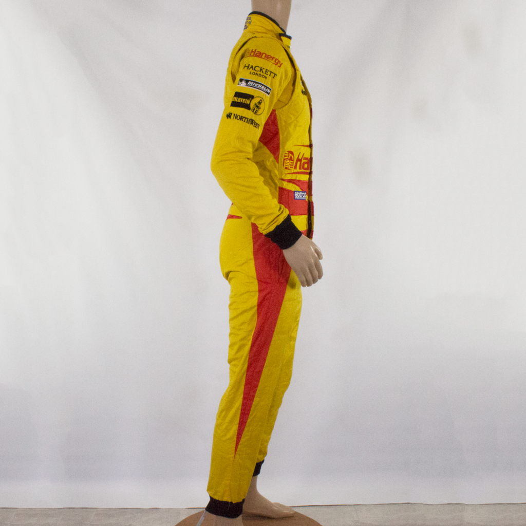 Used - Aston Martin Racing Sparco Race Suit Yellow (Ex Richie Stanaway) - size 50 - Pit-Lane Motorsport