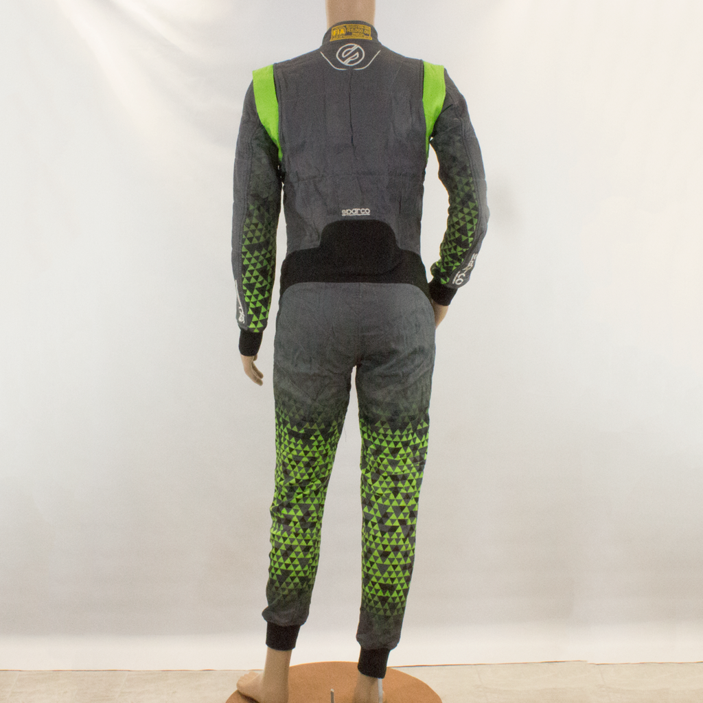 Used - Sparco Infinity Green Grey Race Suit - 2016 - Pit-Lane Motorsport