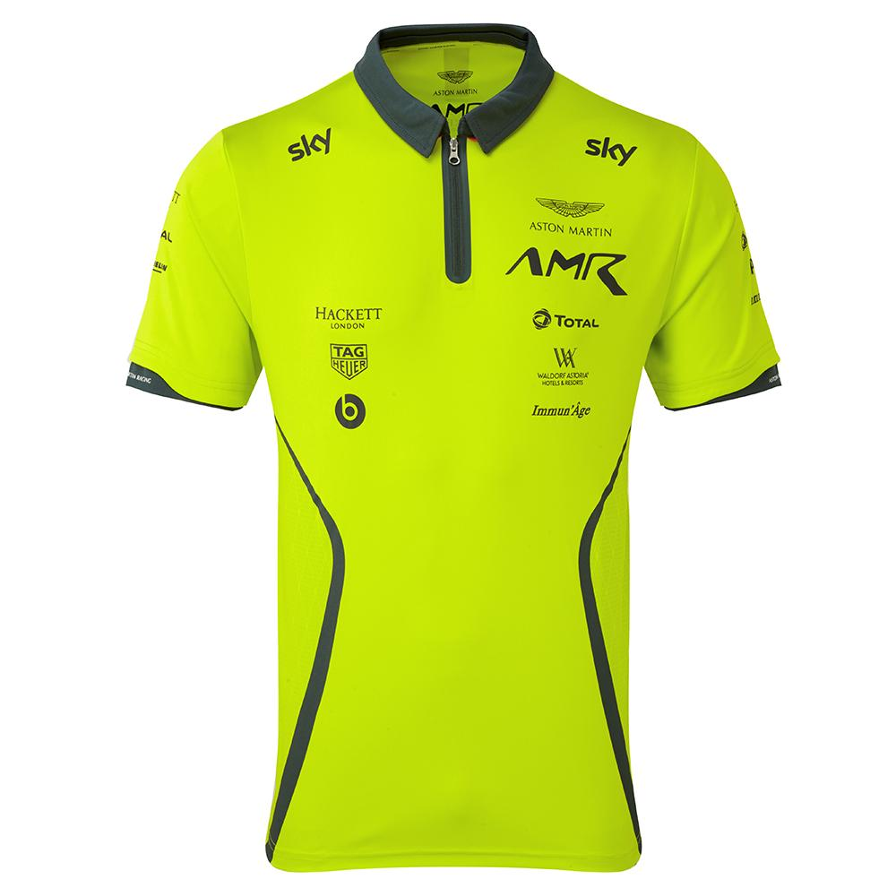 AMR Team Polo Shirt Lime Green - Pit-Lane Motorsport