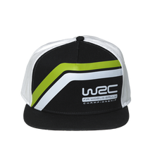 Load image into Gallery viewer, WRC Striped Snapback Cap Black / White - Pit-Lane Motorsport