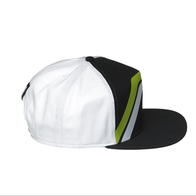 WRC Striped Snapback Cap Black / White - Pit-Lane Motorsport