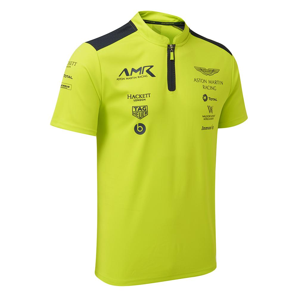 Aston Martin Racing AMR Lime Green Team Polo gift box set with Orange lanyard - Pit-Lane Motorsport