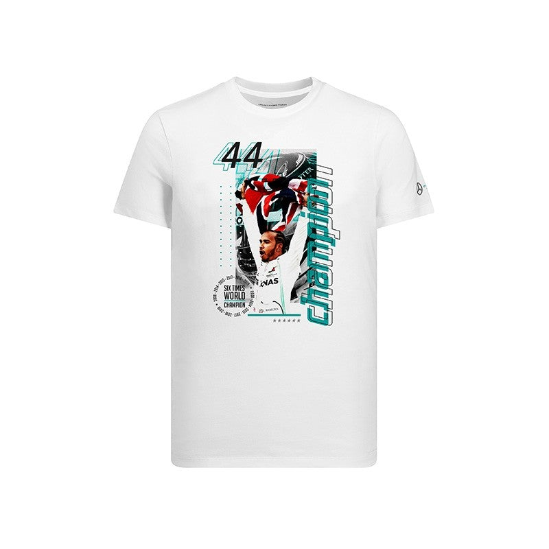 Mercedes-AMG Petronas F1 Lewis Hamilton 6th Time world Champion Celebration Tee shirt - Pit-Lane Motorsport