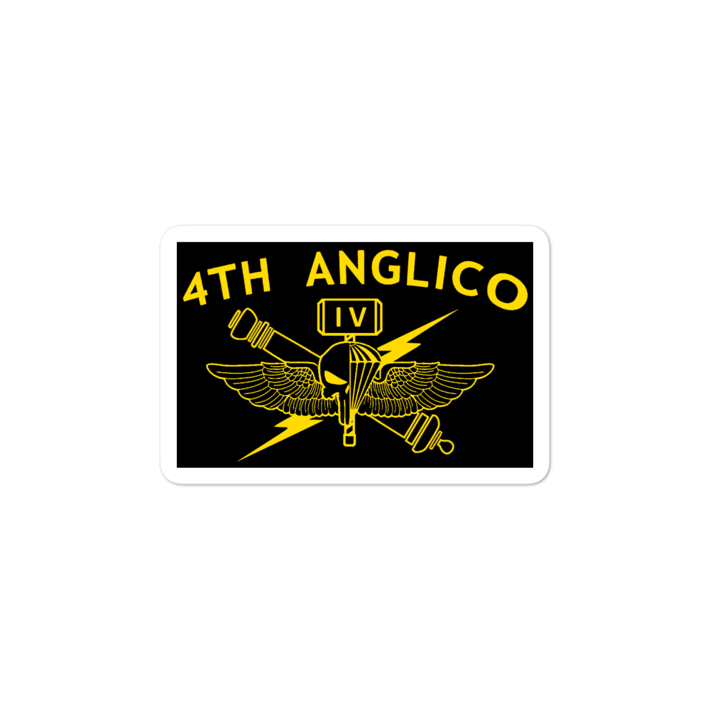 4th ANGLICO Black sticker