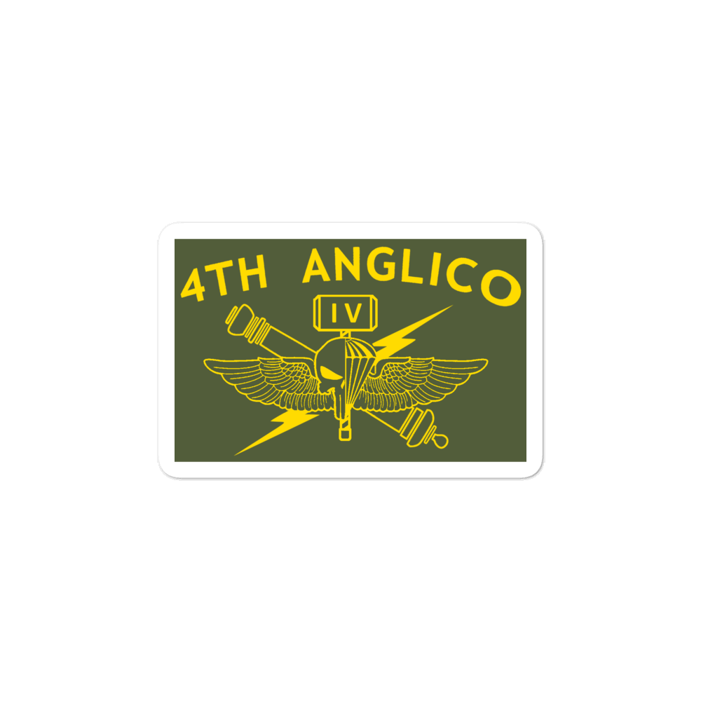 4th ANGLICO Olive Sticker