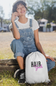 Hair Goals Drawstring Bag