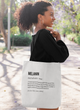 Melanin Definition Tote bag
