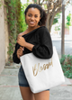 Blessed in Gold Tote Bag