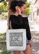 Beautiful Black and Educated Tote bag