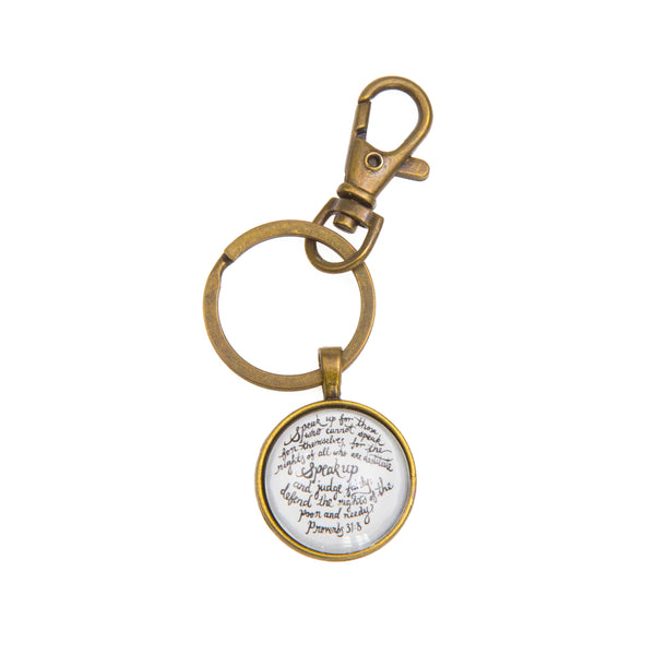 Speak Up Keyring