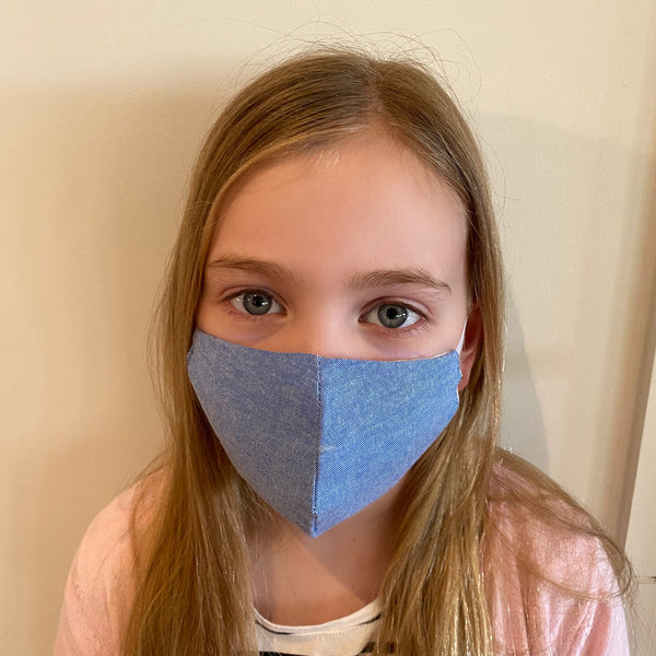 MyanMask Face Mask - KIDS DENIM MEDIUM Age 5-12 (Available in Australia Only)