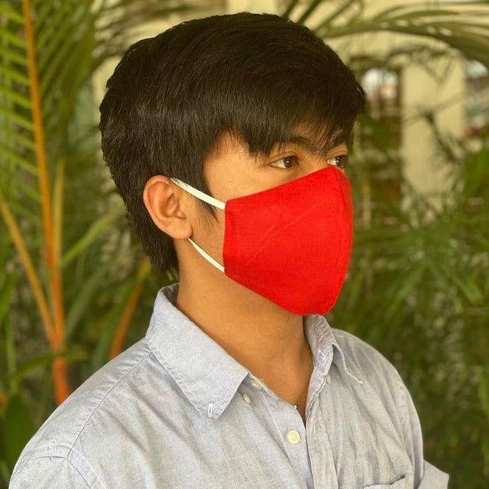 MyanMask Face Mask - RED (Available in Australia Only)