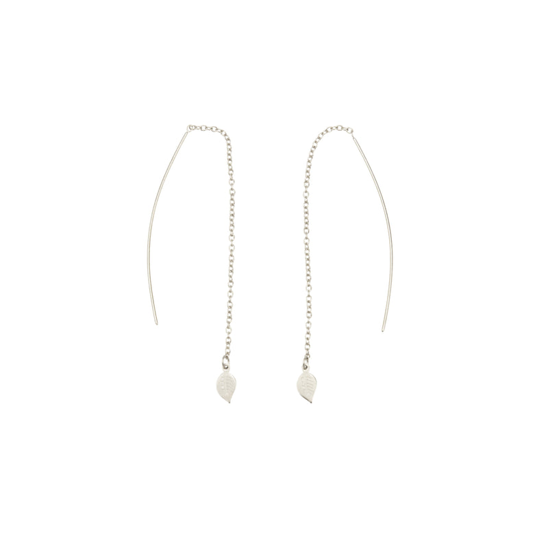 Eden Leaf Drop Earrings