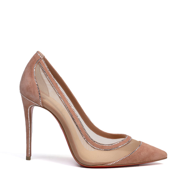 Galativi Strass 100mm Nude Pumps
