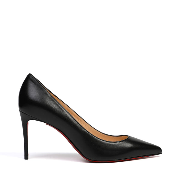 Christian Louboutin - Kate 85 Black Leather Pumps