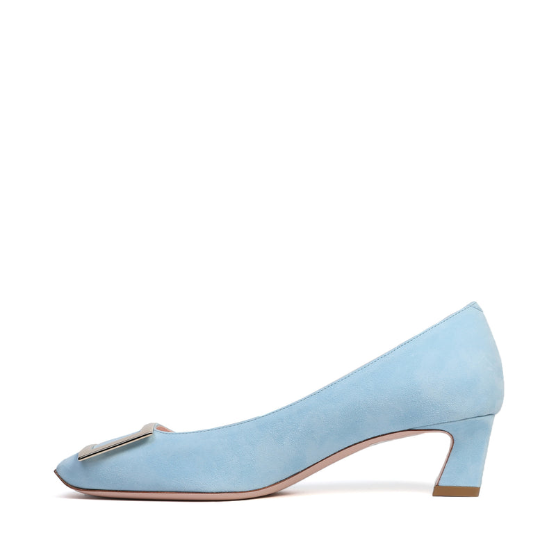 Belle Vivier Trompette Pumps in Suede leather