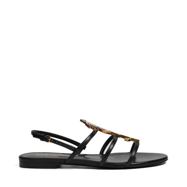 Saint Laurent - Cassandra Flat Logo Sandals