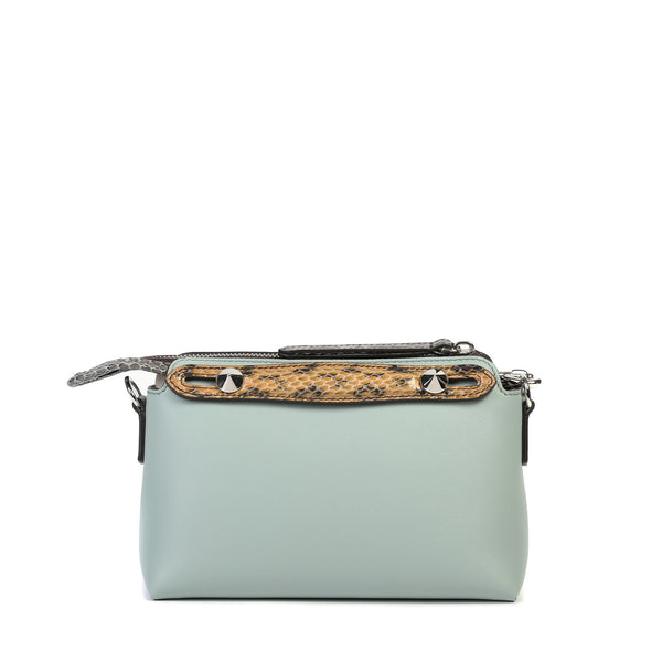Fendi - By The Way Mini Boston bag with snakeskin-effect