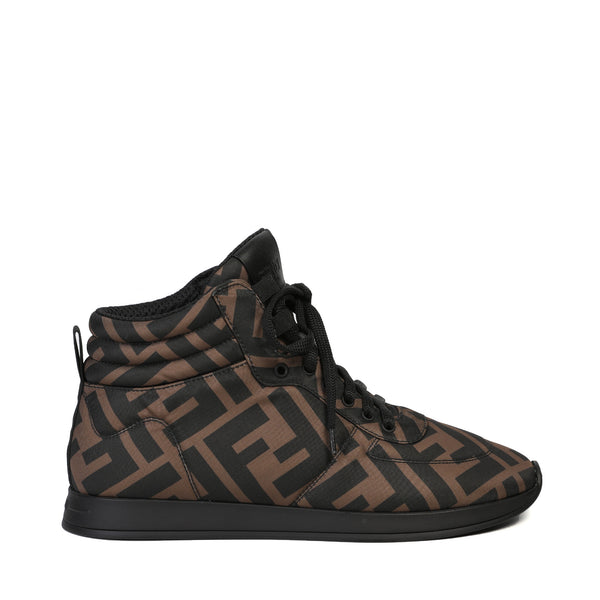 Fendi - FF motif high-top sneakers