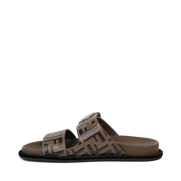 Fendi - FF motif double-strap Flat sandals