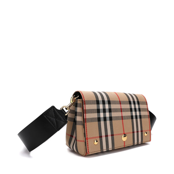 Burberry Check and Leather Note Crossbody Bag