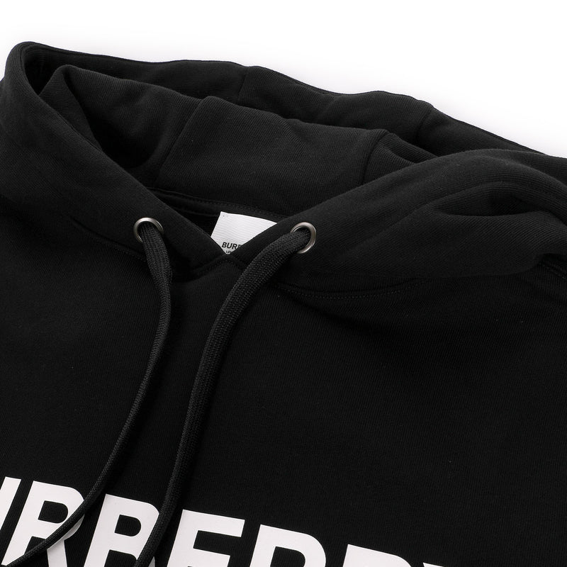 Burberry Logo Print Cotton Oversized Hoodie