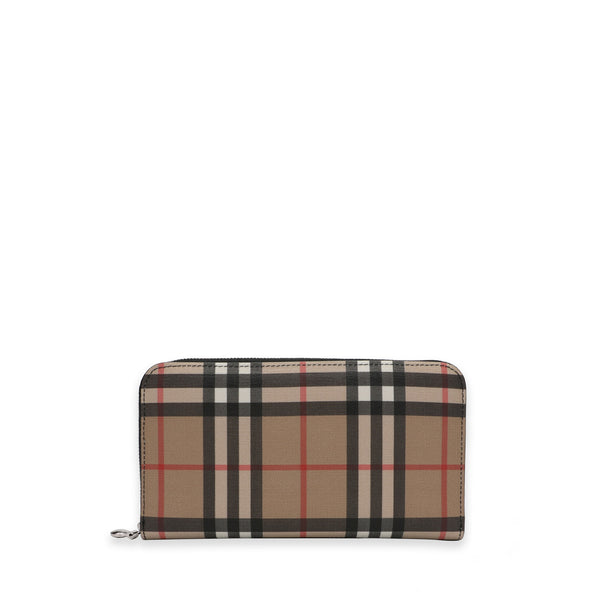 Vintage Check Around Zip Wallet