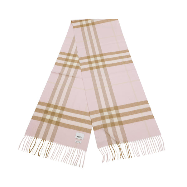 Burberry - Cashmere Check Scarf in Alabaster Pink