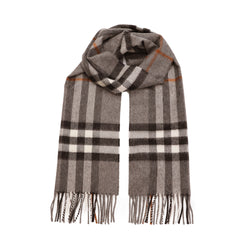 Burberry - The Classic Check Cashmere Scarf in Grey