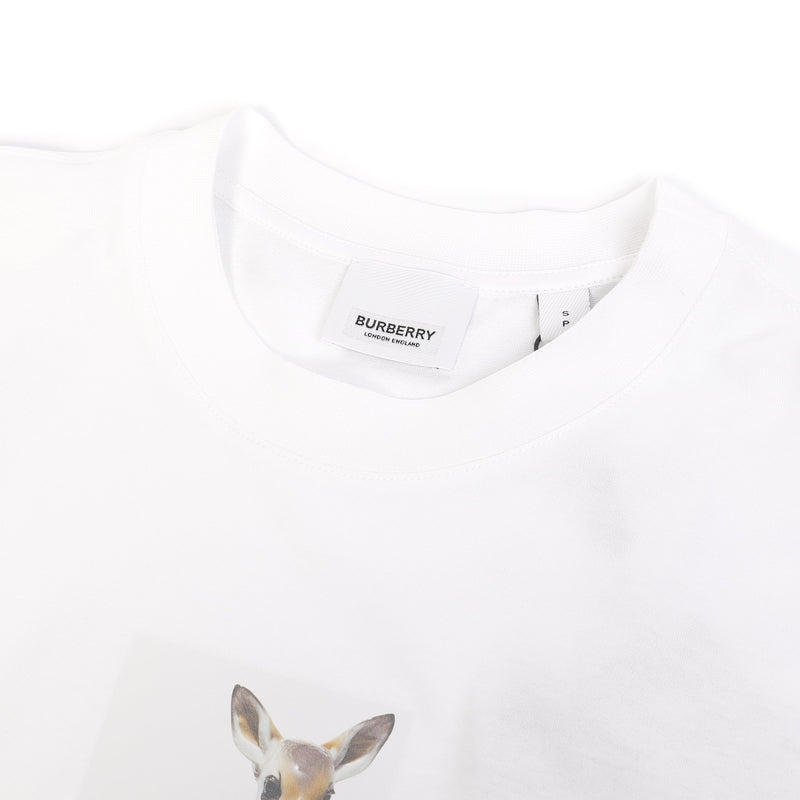 Burberry Deer Print Cotton T-shirt