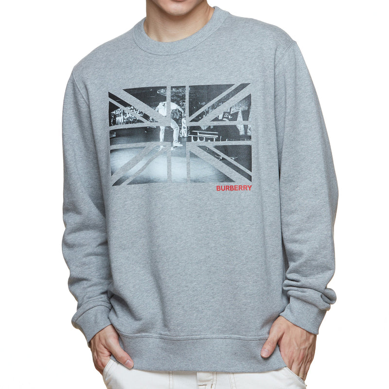 Burberry Union Jack Photo Print Sweatshirt