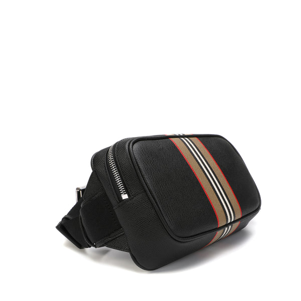 Burberry - Icon Stripe Print Leather Bum Bag
