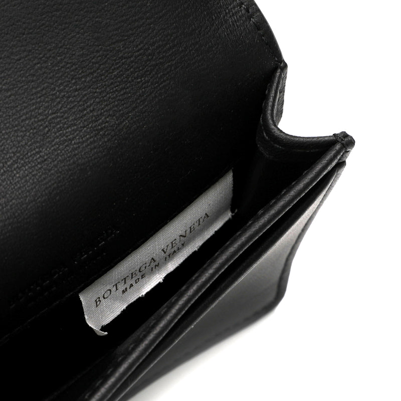 Bottega Veneta Woven Leather Bifold Card Holder