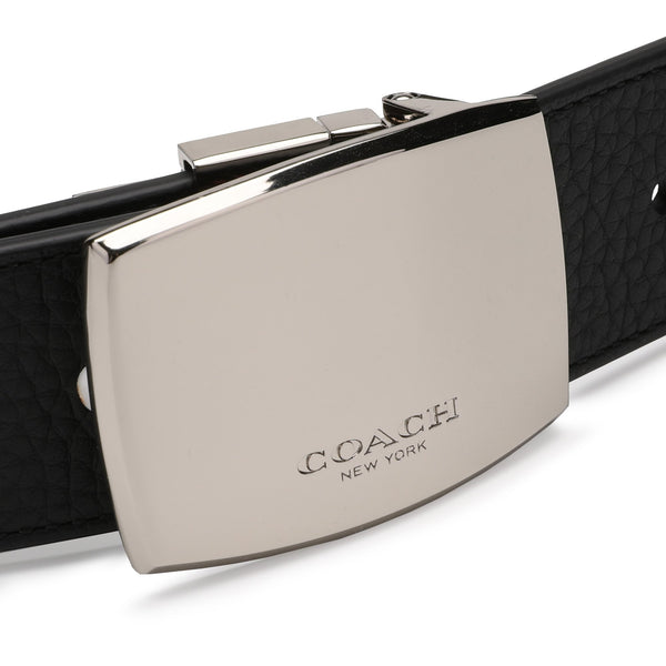 Coach Boxed Wide Plaque Cut-To-Size Reversible Belt
