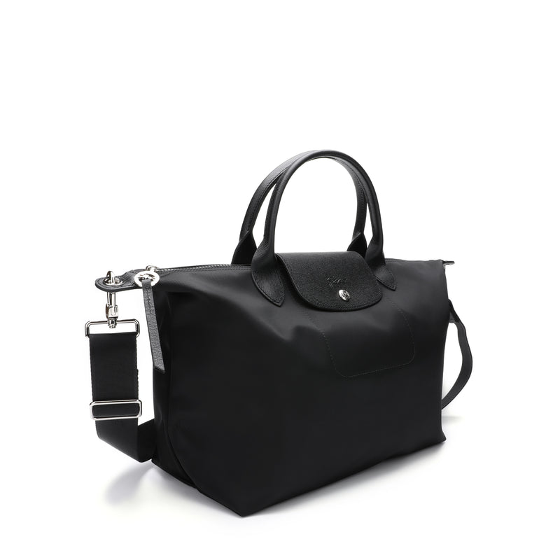 Le Pliage Neo Medium Top Handle Bag with strap