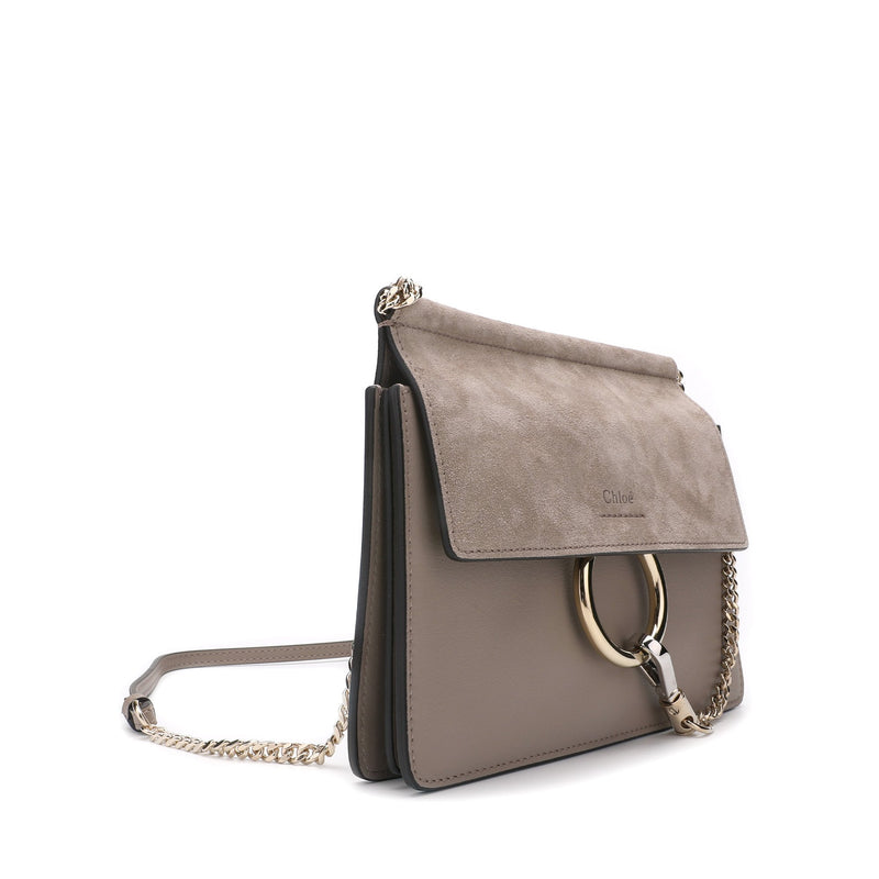 Chloe Mini Faye Suede & Leather Crossbody Bag